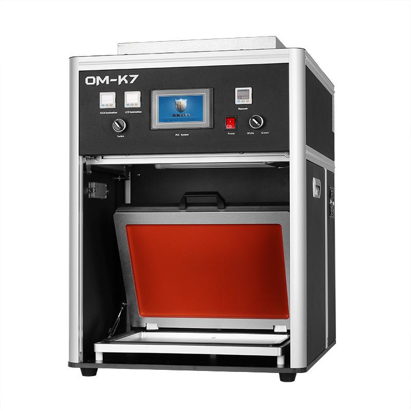 OM-K7 Latest 15 inches airbag LCD lamination machine with dust free blower room for ipad and tablet display screen