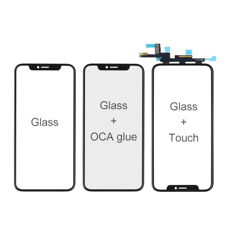 Glass with Touch For iPhone X/XS/XR/XSMAX Screen Repairing and Refurbishing (Premium)
